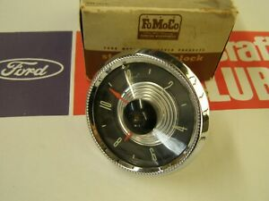 Nos Oem Ford 1955 Fairlane Electric Wind Clock