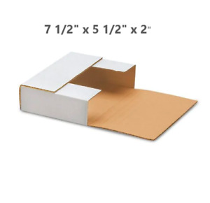 100pcs 7 5 x5 5 Record Album Mailers Book Box Variable Depth Laser Disc Mailers