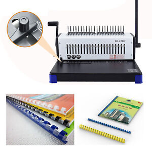 Spiral coil Binding Machine A4 Paper Comb Punch Binder 21 holes 400 Sheets