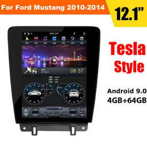 12 1 Android 9 0 Radio Tesla Vertical Screen Car Gps For Ford Mustang 2010 2014
