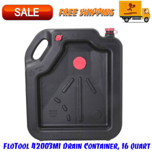 Oil Change Drain Container Large Pan 16 Qt Leakproof High Capacity Car Auto New