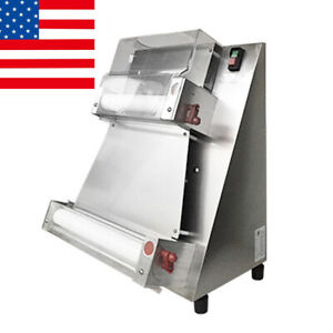 Commercial Electric Pizza Bread Press Dough Roller Sheeter Making Machine 40cm
