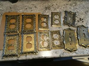 Lot Vintage Mid Modern Switch Plate Covers Outlet Covers