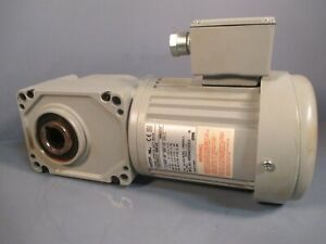 Brother Gear Motor 10 1 Ratio 0 25 Hp 170 Rpm 3 Ph Right Angle F3s25n010 bmk4a