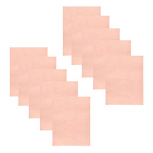 10 Pieces Copper Foil Tape With Conductive Adhesive Copper Sheets For Guitar X