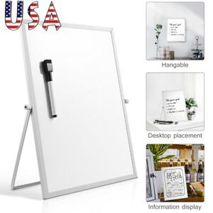 Magnetic Dry Erase Board Double Sided White Board W Stand For Home School Us