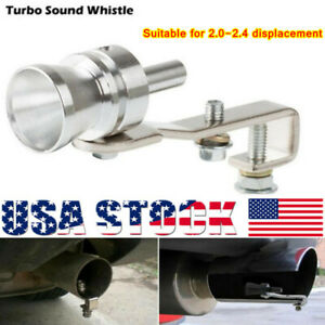 Universal Car Turbo Sound Whistle Muffler Exhaust Tip Valve For Motorcycle Auto