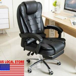 Massage Reclining Swivel Office Chair Desk Computer Gaming Chair W Footrest New