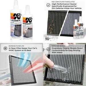 K N Cabin Air Filter Cleaning Kit Spray Bottle Filter Cleaner And Refresher Kit