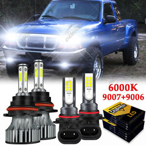 For Ford Ranger 1998 1999 2000 6000k Led Headlight H l fog Lamp Bulbs Combo Kit