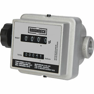 Roughneck Mechanical Fuel Meter 4 20 Gpm 3 4in Inlet outlet
