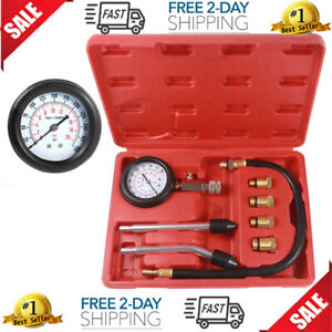 Petrol Engine Small Engine Cylinder Compression Tester 300 Psi With Adapter hose