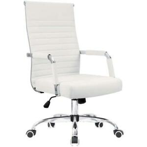 Mid Back Executive Office Chair Pu Leather Ergonomic Computer Desk Task Seat