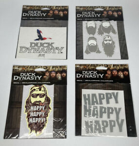 New A e Duck Dynasty Sticker Decals set Of 4 Designs Happy Happy Happy
