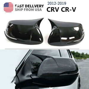 For Honda Crv Cr v 12 21 Carbon Fiber Ox Horn Rear View Side Mirror Cover Trim