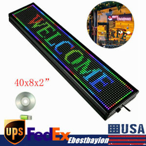 7 Color Rgb Led Sign Programmable Scrolling Message Advertisement Display Board