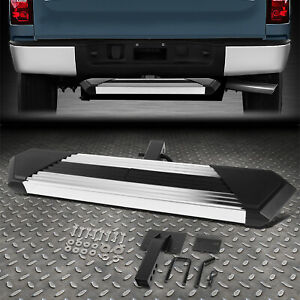 For 2 Receiver Rear Bumper Trailer Towing Hitch Step 6 25 w X 35 l Black chrome