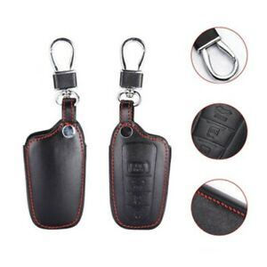 For Toyota Camry Avalon Rav 4 Button Smart Remote Key Fob Bag Leather Cover Case