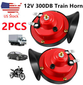 300db Train Horn 12v Super Loud Electric Air For Motorcycle Car Truck Boat Suv