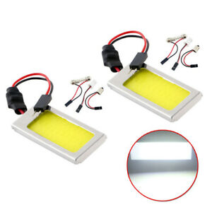2pcs set T10 Ba9s Dome Cob 36smd Led Car Interior Truck Panel Lights 8000k