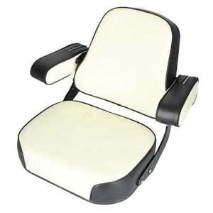 Seat Assembly Vinyl Black white Folding Armrests Compatible With