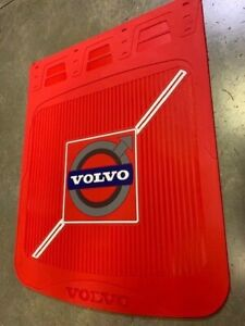 Volvo Mud Flaps blue red Logo 24 x 30 pair Hd Rubber Limited Edition