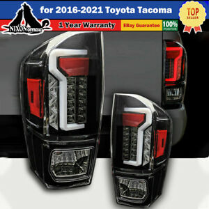 Led Tail Lights Brake Rear Lamps Pair For 2016 2021 Toyota Tacoma Clear Lens