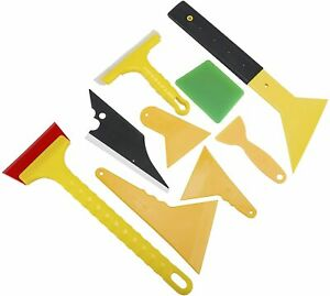 10pc Car Window Film Tint Tools Auto Wrapping Scraper Squeegee Installation Kit