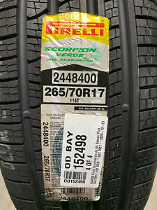 4 New 265 70 17 Pirelli Scorpion Verde All Season Plus Tires