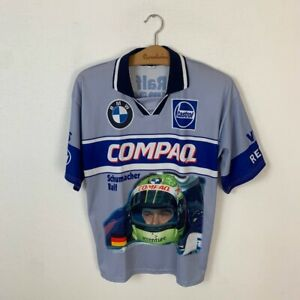 Vintage Men s Bmw Ralf Schumacher F1 Jersey Blue Polo T shirt Size M