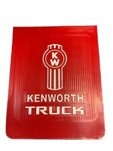 Kenworth Mud Flaps white red Logo 24 x 30 pair Hd Rubber Limited Edition
