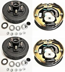 2 pk Electric Trailer Brake 10 Rh Self Adjusting Backing Plates Drum Kits 5 4 5