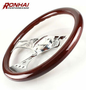 15 Inch Grant Classic Nostalgia Style Wood Grain Steering Wheel With Engraved