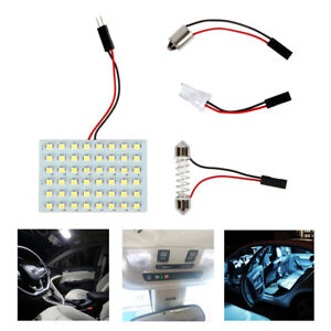 White Map Dome Trunk Interior Light 48 smd 1156 Led Panels For Toyota Lexus A1