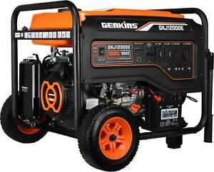 Genkins Gkj12000e 12000 Watt Portable Generator Heavy Duty Electric Starter