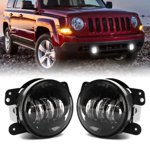 2x 4 Inch Round Osram Led Fog Lights Driving Lamps For Jeep Wrangler Jk Tj Cj