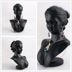 New Jewelry Display Bust Mannequin Necklace Stand Earring Resin Holder Rack Head