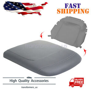 Fits 97 03 Ford F150 Lariat Vinyl Leather Center Console Lid Armrest Cover Gray