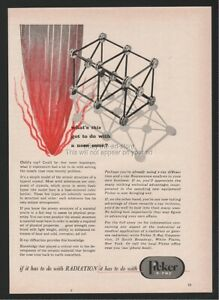 1960 Picker X ray Radiation Tinker Toys Art Nose Cone Crystals Ad