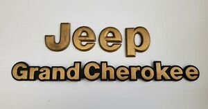 1993 1995 Jeep Grand Cherokee Limited Zj Oem Factory Gold Emblems