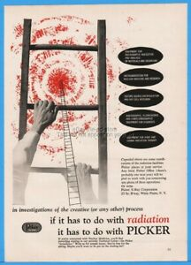 1958 Picker X ray White Plains Ny If It Has To Do With Radiation Stepladder Ad