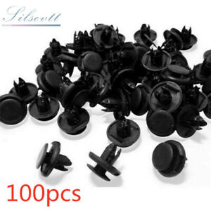 100pcs Fender Liner Pin Clips Push Retainer For Honda Civic Accord Acura Integra