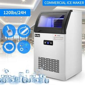 495w 120lb Built in Commercial Ice Maker Undercounter Freestand Ice Cube Machine