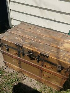 Vintage Trunk Chest Made In 1900s
