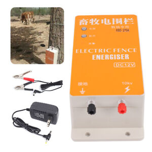 Electronic Solar Fence Charger Set Dc12v Ranch Energy Controller Fencing Charger