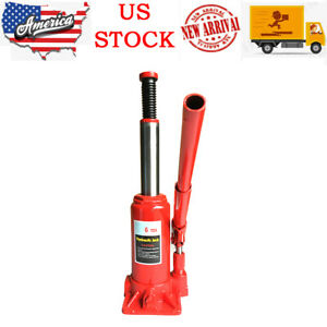 6 Ton Emergency Hydraulic Bottle Jack Lift For Truck Bus Car Heavy Duty Steel Us