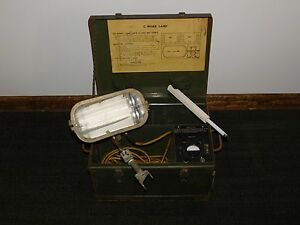 Old Construction Equipment 17 X 13 X 10 3 4 High C Work Lamp Portable Light
