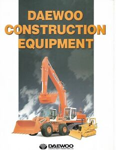 Equipment Brochure Daewoo Construction Product Line Overview C1997 e6380
