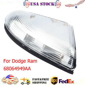 Front Driver Mirror Turn Signal Light Lamp For 09 14 Dodge Ram 1500 10 14 2500