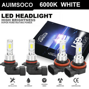 For Chevy Colorado 2013 2020 4pcs 9005 H11 Led Headlights Bulb High Low Beam Kit